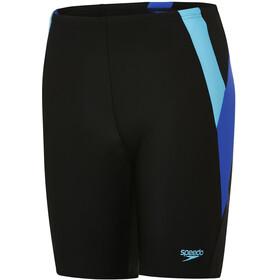 speedo Colour Block Jammer-uimahousut Pojat, black/amparo blue/turquoise